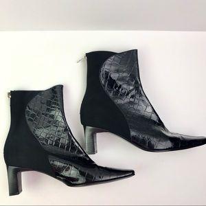 J. Renee Croc Print Ankle Boots